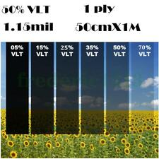 Black Glass Window Tint Shade Film VLT 50% Auto Car House Roll 50cm*1M Cool !