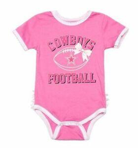 Dallas Cowboys Baby/Infant Pink Grace Tutu Bodysuit