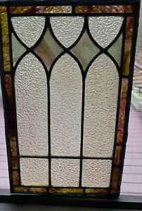SMALL 19TH CENTURY STAINED GLASS WINDOW