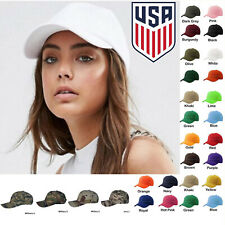 Womens Plain Baseball Cap Adjustable Solid Hat Polo Style Strapback Ballcap