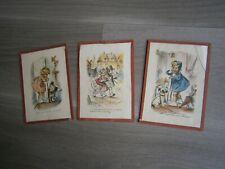 3 GRAVURES GERMAINE BOURET CADRE DECO ANCIEN ENFANTS HUMOUR ILLUSTRATION