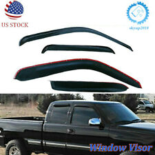 Abs Window Visor Rain Guards For 1999-2006 Chevy Silverado Extended Cab 99-06 Us