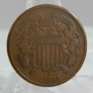 1868 Two Cent Piece 2 Cents 2C Coin C2693