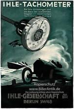 Ihle Gesellschaft magnet elektrische Tachometer Plakat Braunbeck Motor A2 149