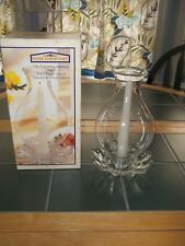 """Indiana Glass Home Harmonies 3 Piece Candlelamp Centerpiece. Candle 8"""" Tall."""