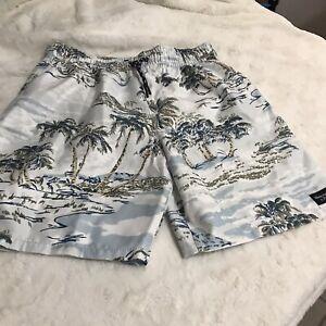 Abercrombie & Fitch Kids Boys Swimwear Trunks ,Size 11/12 Palms print NWT