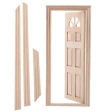 Dollhouse Miniature Wooden Door Unpainted 1:12