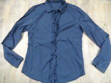 Marc O Polo Bella Camicia Blu Grigio M. volant Tg. 36 Top e1017