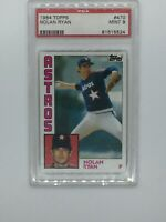 1984 Topps Nolan Ryan Houston Astros #470 Baseball Card. PSA graded mint 9