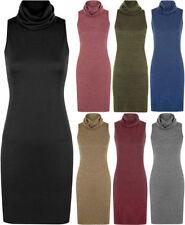 Cowl Neck Regular Size Sleeveless Dresses for Women