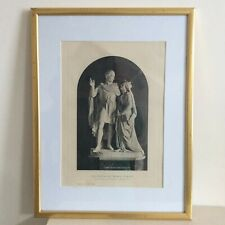 Antique 1887 Print of the Queen Victoria and Prince Albert Statue