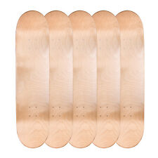 "Lot of 5 Cal 7 Blank Maple 8.0"" Skateboard Deck Nature Color Bundle Combo Set"