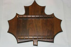 17 Souvenir Spoon Wooden Display Case