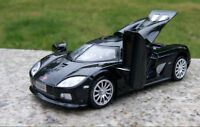Diecast Black 1:32 Scale Koenigsegg Sport race Car Model light&sound Collection