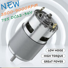 775 Dc Motor Ball Bearing 12 36v 3500 9000rpm Large Torque Power Low Noise P7q1