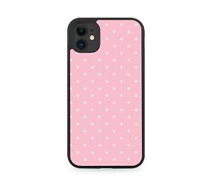 Baby Pink Polka Dotted Rubber Phone Case Dots Coloured Dotty Spots Silicone E848