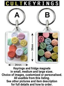Ecstasy Pills keyring / fridge magnet - MDMA Crystal