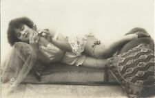 Rare original old French real photo postcard Art Deco nude study 1920s RPPC #253