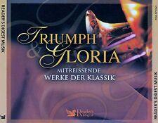 TRIUMPH & GLORIA - MITREISSENDE WERKE DER KLASSIK / 4 CD-SET - TOP-ZUSTAND