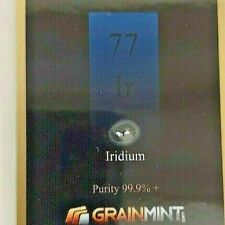 More details for 1/4 grain iridium investment presentation card  free shipping