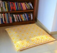 "Yellow WATERPROOF OUTDOOR FLOOR CUSHION Cover LARGE 35"", Fade/Mould Resistant"