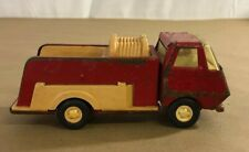 Vintage Tonka Red Fire Truck Pressed Steel Metal 55250 Tan Plastic D8