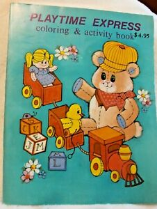 Vintage Coloring Activity 1986 Color Book Playtime Express LANDOLL New old Stock
