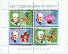 PAPILLONS & ORCHIDEES - BUTTERFLIES & ORCHIDS CONGO 2006 set perforated