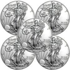 Lot of 5 - 2019 $1 American Silver Eagle 1 oz Brilliant Uncirculated