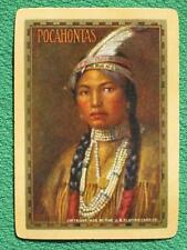 "Indian Maiden Art Swap Card ""Pocahontas"" Vintage Original 1906 Native American"