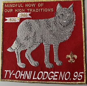 BOY SCOUT OA 95 TY OHNI LODGE VINTAGE ANNIVERSARY JACKET PATCH