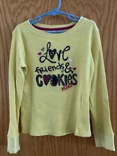 Gymboree Merry & Bright Yellow Waffle Ls Shirt Top Sz M 7-8