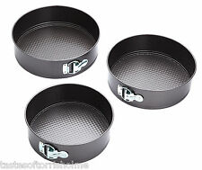 Kitchen Craft 3 Tier Non Stick Round Springform Cake Tins - 9, 9.5 & 10 Inch