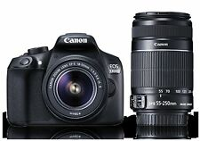 Canon EOS 1300D 18MP DSLR with EF-S 18-55 IS II and EF-S 55-250mm IS II Lens