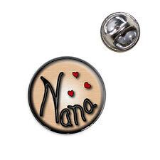 Nana Love Hearts Lapel Hat Tie Pin Tack