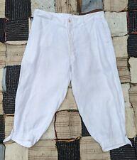 Antique 1920S Men'S White Linen Plus Fours / Pants