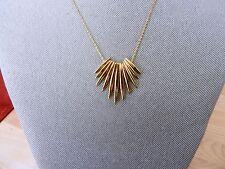 Michael Kors Goldtone Tribal Pendant Necklace MSRP $145