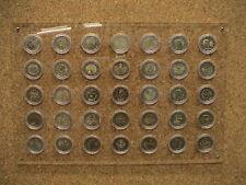 ESPOSITORE in PLEXIGLASS per MONETE da 2 EURO COMMEMORATIVO con 35 CAPSULE 26 mm