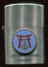 LIGHTER  Sasebo Japan US Navy CPO Mess  FREE Shipping