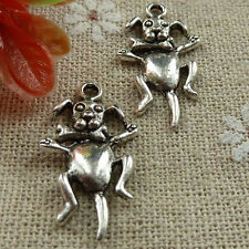 140 pieces tibetan silver Dog with Bone charms 26x15mm #1464