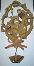 Faux Driftwood Wreath/Plaque Holy Family Roman (Cs11)