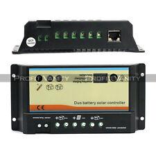 12V/24V 20A 2 Batterie Solar Regler Laderegler LCD Solarregler Solarmodel