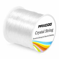 Paxcoo 0.8mm Elastic String, Stretchy Bracelet String Crystal Bead.