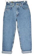 VINTAGE Lee Virginia Vita Alta Taglio Rastremato MAMMA Blue Jeans taglia 10 W28 L27