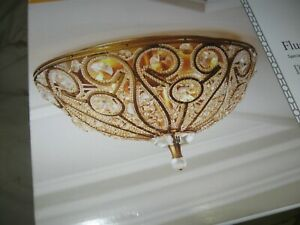 Portfolio Sequina Specialty Antique Gold Traditional Incandescent Flush Mount