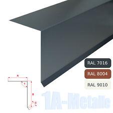 Ortgangblech Aluminium Winkelblech Ortblech Alu Dachblech RAL Farben Ortgang A