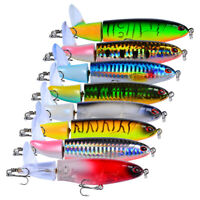 Rotating Fishing Lures Tail Whopper Surface Plopper Crankbaits Topwater Floating