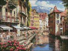 Needlework Crafts Full Embroidery Counted Cross Stitch Kits Afternoon in Annecy