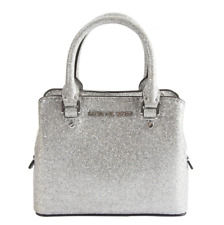 Michael Kors 35h9sgfc8o Ciara XS Mini Leather Crossbody Silver