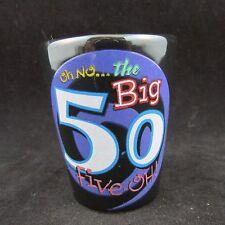 "50 Big Birthday 2 1/2"" Black Shot Glass"